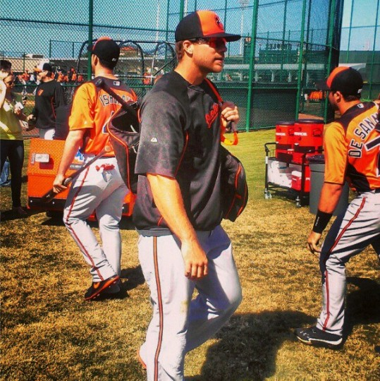 Chris Davis is pictured at spring training on Feb. 19, 2013.