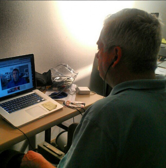Peter Schmuck participates in a Google+ Hangout with David Selig, The Sun's Orioles editor, from Sarasota on Feb. 20, 2013.