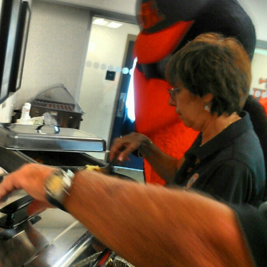 The Oriole Bird enjoys the media dining hall on Feb. 25, 2013.