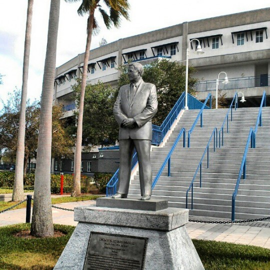A statue of former Yankees owner George Steinbrenner, pictured Feb. 27, 2013.