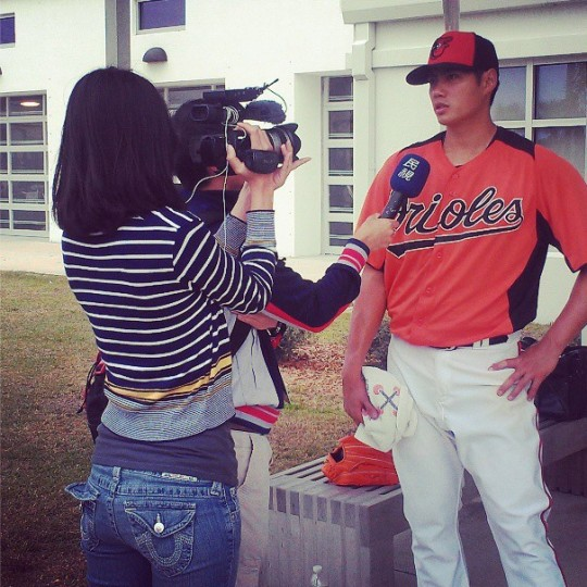 Wei-Yin Chen is interviewed by Taiwanese TV on March 18, 2013.