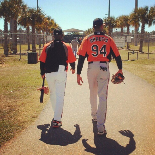 Cuban defector Henry Urrutia arrives at Orioles spring training on March 4, 2013.
