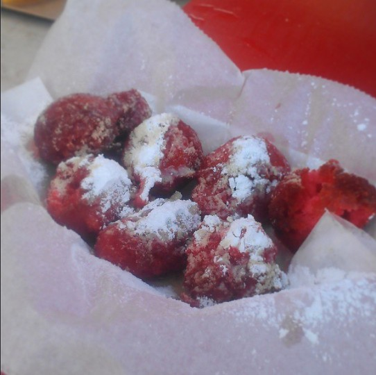 Enjoying the Florida Strawberry Festival on March 7, 2013.