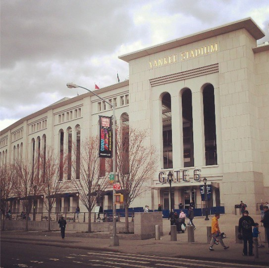 An exterior view of Yankee Stadium in New York on April 13, 2013.