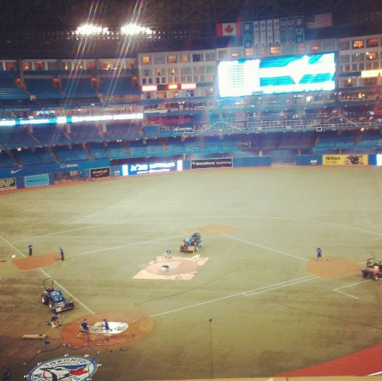 A view of the Rogers Centre in Toronto on May 25, 2013.