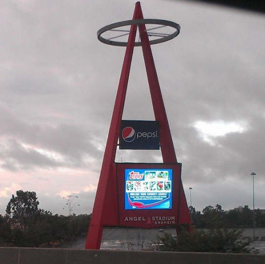 A view of Angels Stadium in Anaheim on May 6, 2013.