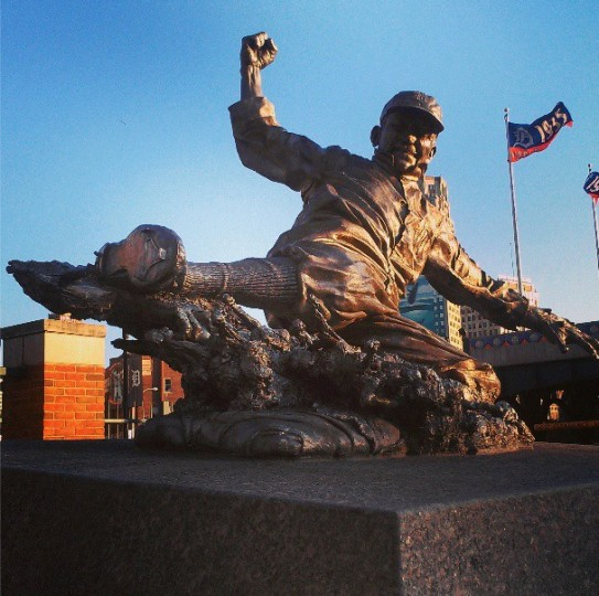 A statue of Ty Cobb at Detroit's Comerica Park on June 19, 2013.