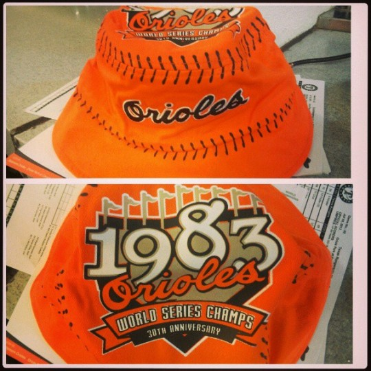 It was floppy hat night at Camden Yards on July 11, 2013.