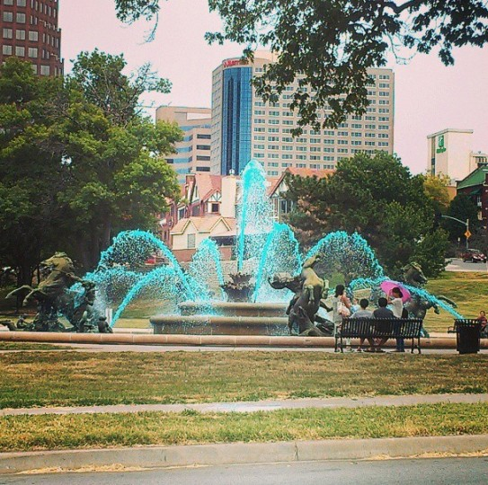 Kansas City, the City of Fountains, on July 25, 2013.