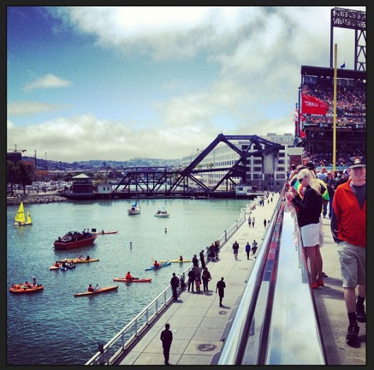 A view of McCovey Cove in San Francisco on Aug. 12, 2013.