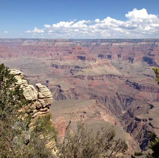 A view of the Grand Canyon on Aug. 16, 2013.