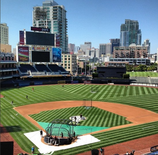 A view of Petco Park in San Diego on Aug. 6, 2013.