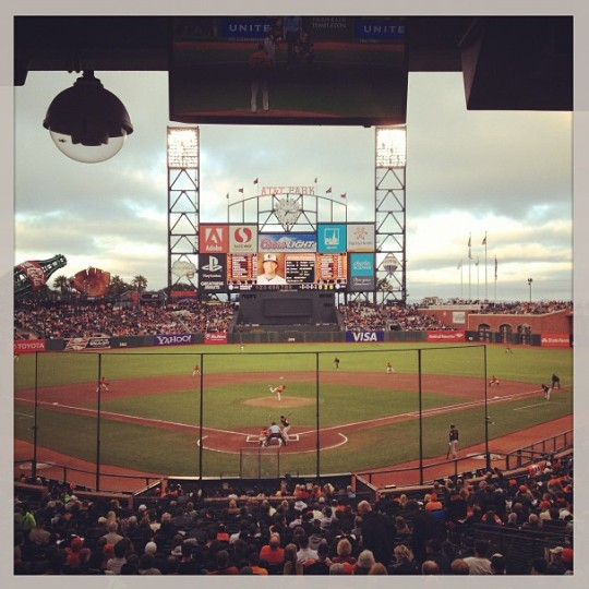 A view of AT&T Park in San Francisco on Aug. 9, 2013.