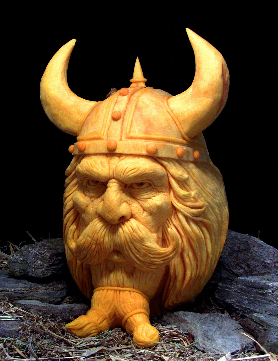 Pumpkin sculptor gabe vinas finest work