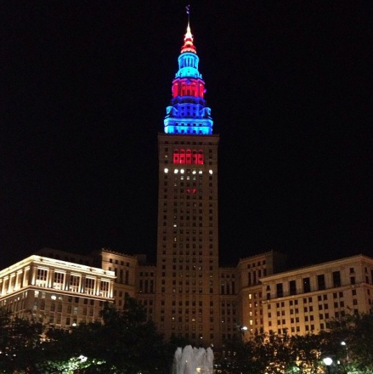 This tower in downtown Cleveland was the tallest building in the world outside NYC from its opening in 1928 until 1953. Picture taken Sept. 4, 2013.