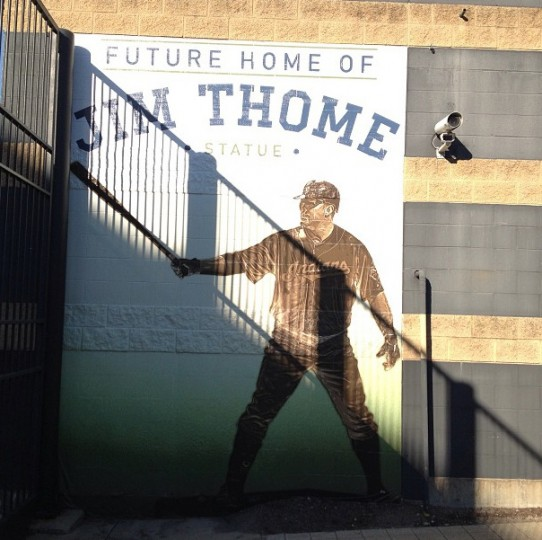 Former Oriole Jim Thome will be honored here in Cleveland. Picture taken Sept. 4, 2013.