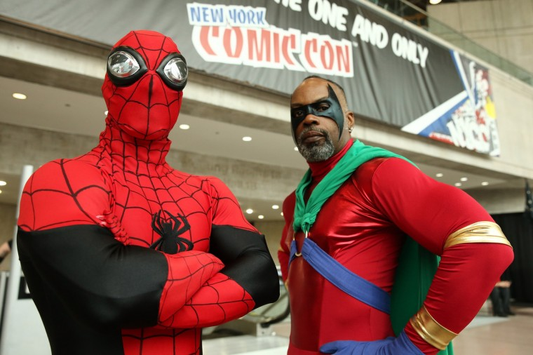 Cosplay fans attend the opening day of New York Comic Con 2013 at The Jacob K. Javits Convention Center. (Neilson Barnard/Getty Images)