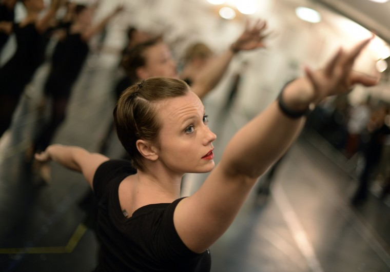 The Rockettes go through rehearsals in New York in preparation for the Radio City Christmas Spectacular, featuring dazzling dance numbers and costumes, classic favorites and a breathtaking new number Snow. The 2013 The Radio City Christmas Spectacular will run from November 8 to December 30, 2013. (Timothy Clary/Getty Images)