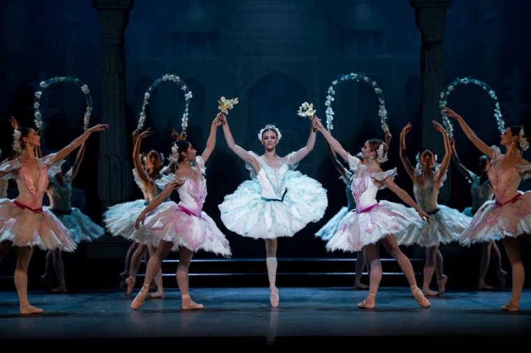 Dancers of the English National Ballet perform 'Le Corsaire' at the Milton Keynes Theatre on October 16, 2013 in Milton Keynes, England. (Ian Gavan/Getty Images)