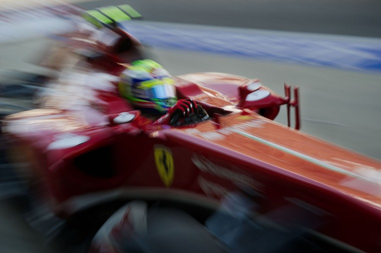 Ferrari driver Felipe Massa of Brazil drives his car into the pit lane during the first practice session of the Formula One Korean Grand Prix in Yeongam. (NICOLAS ASFOURI / AFP/Getty Images)