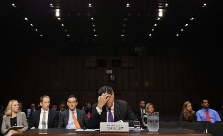 U.S. Treasury Secretary Jack Lew testifies before the U.S. Senate Finance Committee about the debt limit. (MANDEL NGAN / AFP/Getty Images)