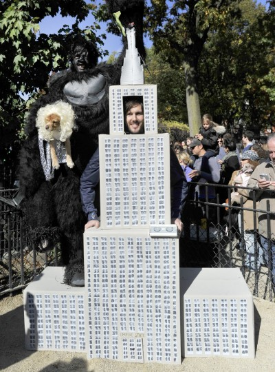 "Contestants dressed as characters from the movie ""King Kong"" participate in the 23rd Annual Tompkins Square Halloween Dog Parade on October 26, 2013 in New York City. Thousands of spectators gather in Tompkins Square Park to watch hundreds of masquerading dogs in the countrys largest Halloween Dog Parade. (Timothy Clary/AFP/Getty Images)"