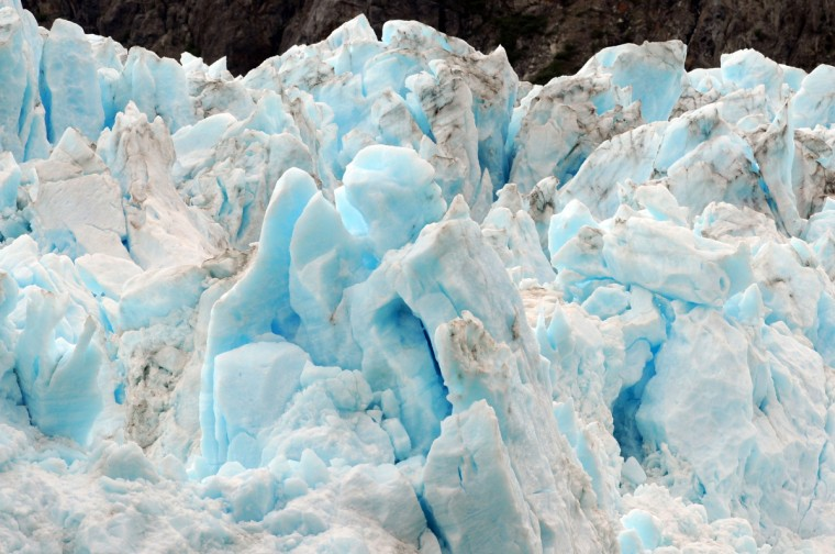 The blue ice of the Margerie Glacier in Glacier Bay is arresting. (Kim Hairston/Baltimore Sun)