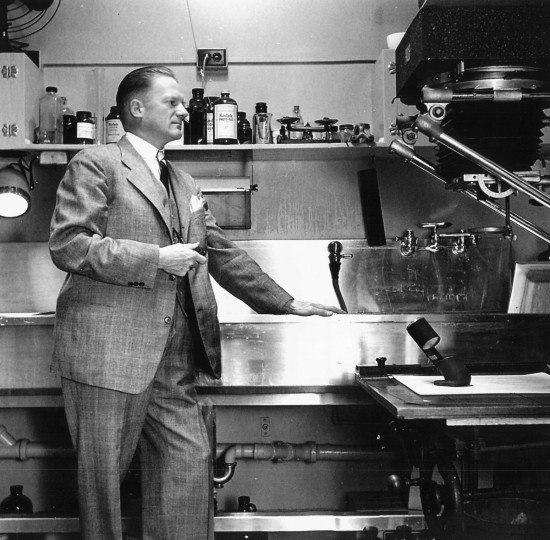 A. Aubrey Bodine, shown here in the darkroom, worked at The Baltimore Sun as a staff photographer from 1920 to 1970.
