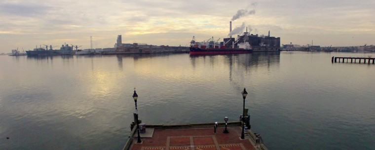 View of Tide Point from Fells Point. (Photo by Elevated Element)