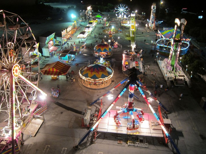 A night-view of a fair in Owings Mills. (Photo courtesy of Elevated Element)