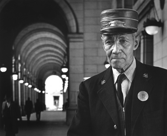 "This March 1965 photo of a red cap at Union Station in Washington D.C. won first place in the Portrait and Feature category of a Baltimore press cameramens' competition. It was called ""Vanishing Occupation."" (William L. Klender/Baltimore Sun)"
