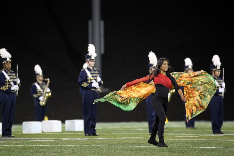 Perry Hall High School Marching Band's Alicia George, 14, performs. (Jen Rynda/BSMG)