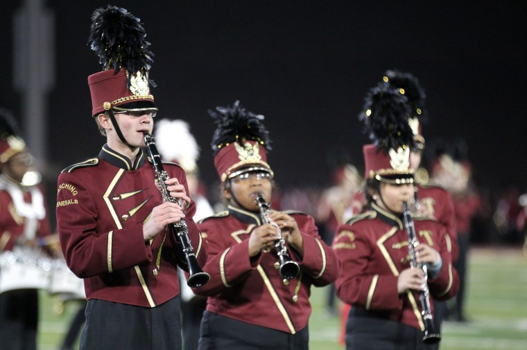 Towson High School Marching Band performs. (Jen Rynda/BSMG)