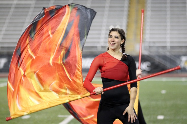 Perry Hall High School Marching Band Kristey Wright, 17, performs. (Jen Rynda/BSMG)
