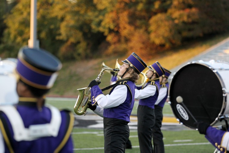 Loch Raven High School Marching Band performs. (Jen Rynda/BSMG)