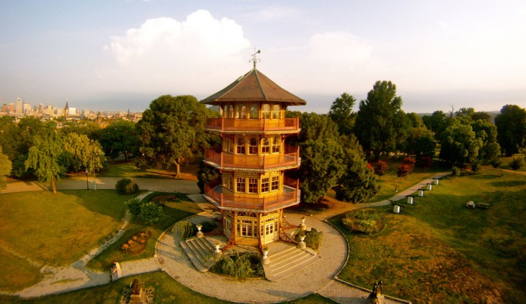 A stunning photo of the Patterson Park Pagoda, which was featured in an issue of National Geographic. (Photo courtesy of Elevated Element/2013)