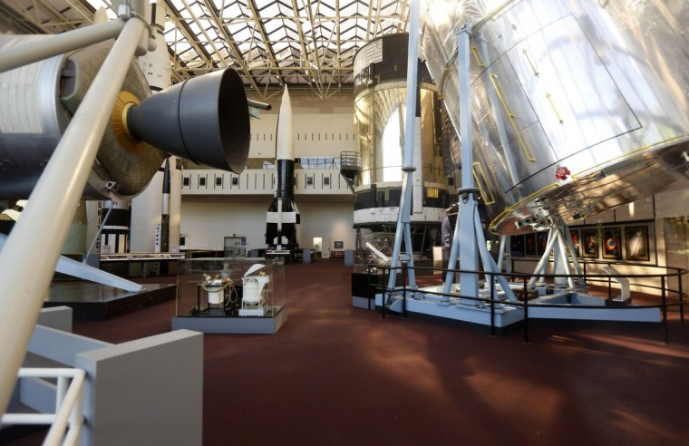 The inside of the closed Smithsonian Air and Space Museum is seen in Washington October 1, 2013. The U.S. government partially shutdown for the first time in 17 years on Tuesday as a standoff between President Barack Obama and congressional Republicans over healthcare reforms closed many government offices, museums and national parks and slowed everything from trade negotiations to medical research. (Kevin Lamarque/Reuters photo)