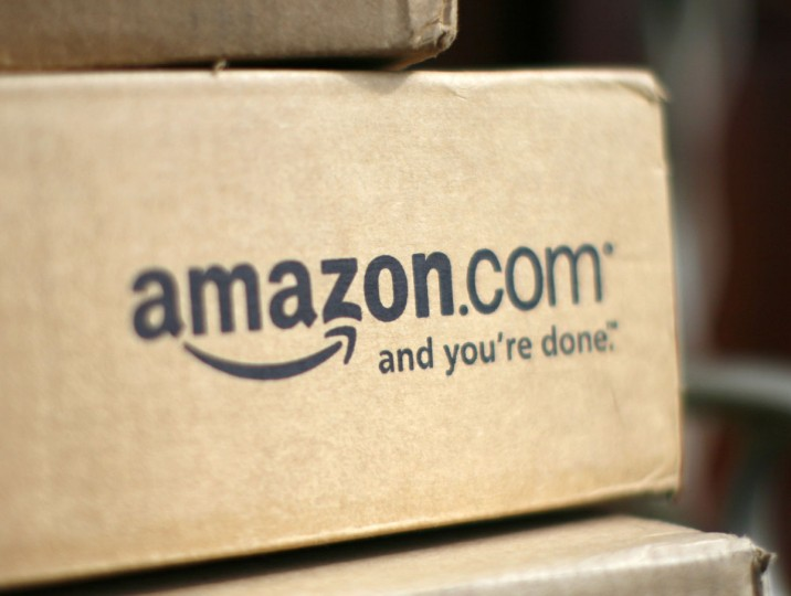A box from Amazon.com is pictured on the porch of a house in Golden, Colorado July 23, 2008. Online retailer Amazon.com Inc said on Wednesday its quarterly profit doubled on a 41 percent rise in revenue, sending its shares up more than 6 percent. (Rick Wilking/Reuters)