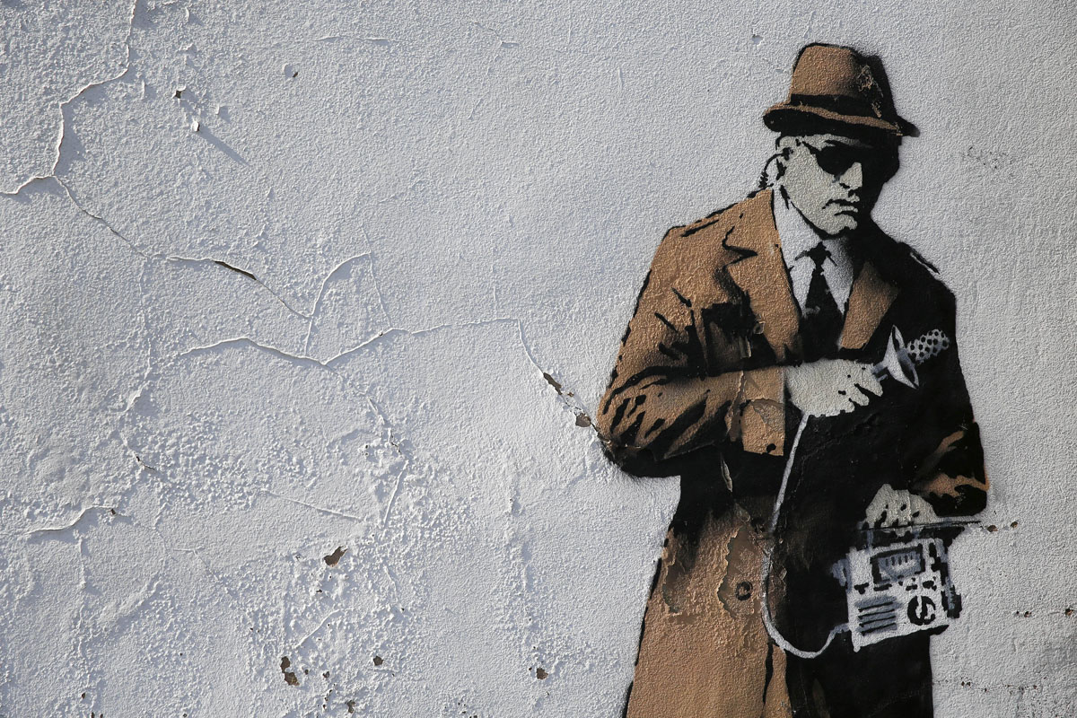 Graffiti artwork from Banksy, 'The Guerrilla Artist'