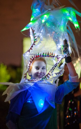 Jenna Boyles, 24, of Hampden, came dressed to impress during the annual Halloween Lantern Parade through Patterson Park on Saturday, October 26, 2013. (Nate Pesce/For the Baltimore Sun)