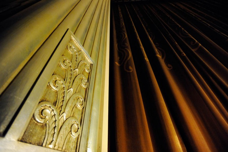 An architectural detail at the newly renovated Senator Theatre. (Steve Ruark/ for The Baltimore Sun)