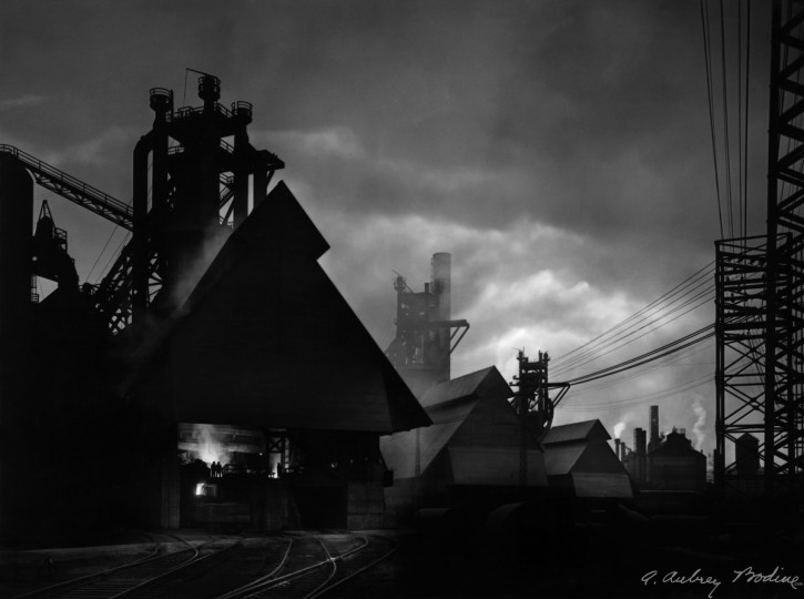 All from Bodine's Industry: The Dignity of Work. Sparrow Point Blast Furnace, 1946 (Plate 010) photo by A. Aubry Bodine.