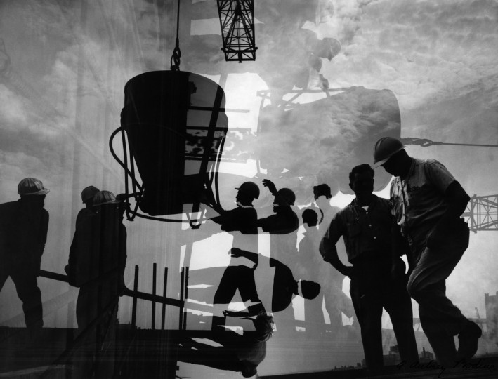 All from Bodine's Industry: The Dignity of Work. Concrete Pouring, 1968 (Plate114) photo by A. Aubry Bodine.