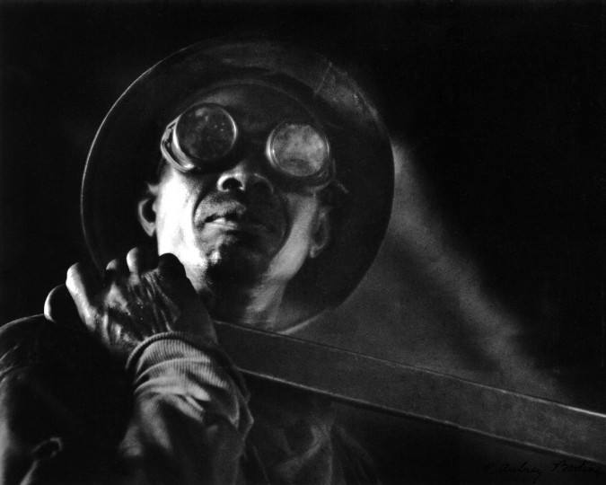 All from Bodine's Industry: The Dignity of Work. Steel Worker, ca. 1950. (Plate 009) photo by A. Aubry Bodine.