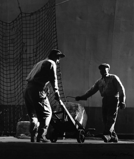 All from Bodine's Industry: The Dignity of Work. Longshoremen, 1955 (Plate 151) photo by A. Aubry Bodine.