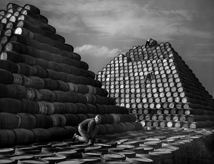 All from Bodine's Industry: The Dignity of Work. Ten Thousand Vinegar Barrels, 1955 (Plate 087) photo by A. Aubry Bodine.