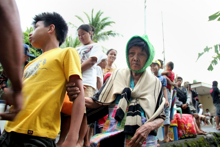 Residents of Legazpi city in Albay province, south of Manila, are evacuated on November 7, 2013 ahead of a super typhoon that was strengthening in the Pacific Ocean. Authorities warned Typhoon Haiyan, with wind gusts exceeding 330 kilometres (200 miles) an hour, could cause major damage across a vast area of the central and southern Philippines when it makes landfall on November 8. (Charism Z. Sayat/AFP Getty Images)