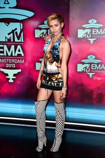 Miley Cyrus attends the MTV EMA's 2013 at the Ziggo Dome on November 10, 2013 in Amsterdam, Netherlands. (Ian Gavan/Getty Images for MTV)