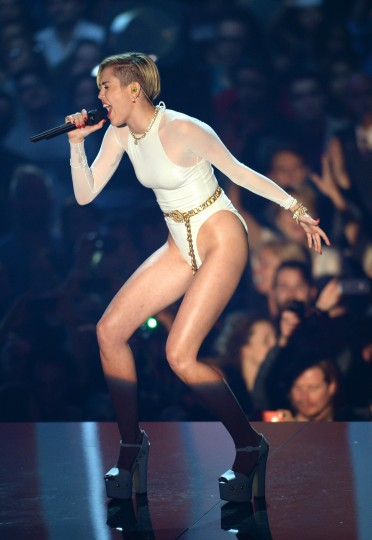 Miley Cyrus performs onstage during the MTV EMA's 2013 at the Ziggo Dome on November 10, 2013 in Amsterdam, Netherlands. (an Gavan/Getty Images for MTV)