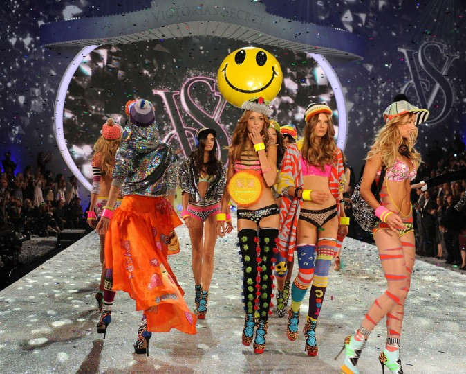 Models walk the runway at the 2013 Victoria's Secret Fashion Show at Lexington Avenue Armory on November 13, 2013 in New York City. (Dimitrios Kambouris/Getty Images)